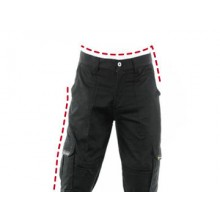Motorcycle pants reinforced with aramid