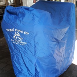 Blue Motorcycle Cover with UV Protection