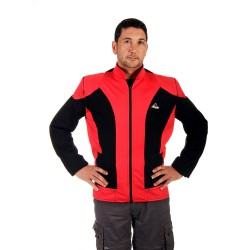 """""""Optimal"""" summer motorcycle jacket containing Aramid+Dry Fit  - red &black"""