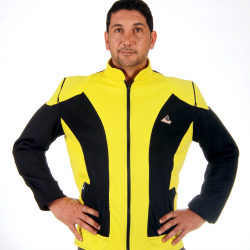 """""""Optimal"""" mesh  motorcycle jacket containing Aramid + DRy Fit  - black yellow"""