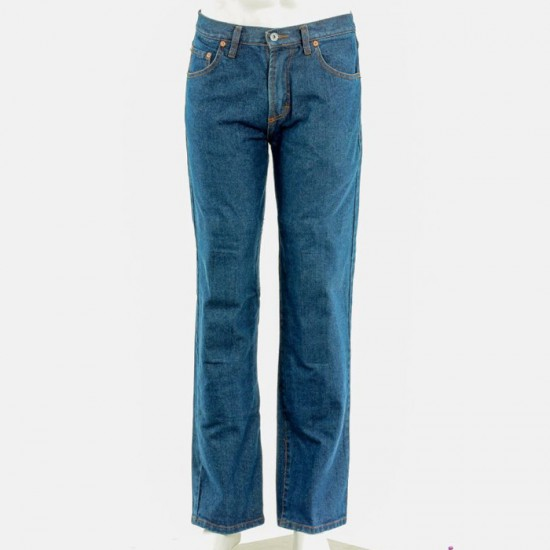 Big Size rding jeans with protective lining blue