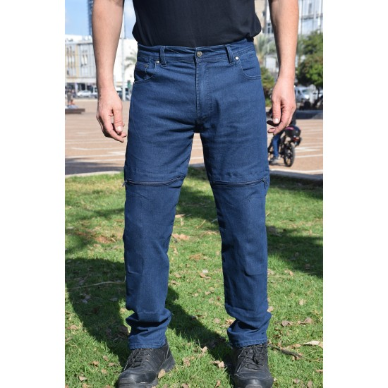 Motorcycle riding jeans Aramid reinforced black