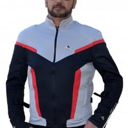 """Optimal 2 Big sizes""  summer jacket  grey black red with Dry Fit +Aramid  sizes 4xl-8xl"