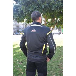"""Optimal 2 ""black yellow mesh horseback riding  jacket Dry Fit + Aramid"