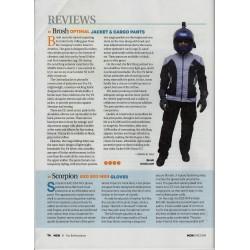 """Optimal"" summer motorcycle jacket containing Aramid  + Dry Fit grey & black"